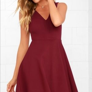 Lulus hello world wine red midi dress